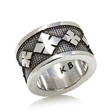 King Baby Jewelry Sterling Silver Continuous Cross Ring