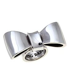 King Baby Jewelry Sterling Silver Smooth Bow Ring