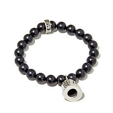 "King Baby Jewelry ""Top Hat"" Charm Onyx Bead Bracelet"