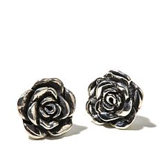 King Baby Sterling Silver Rose Garden Stud Earrings