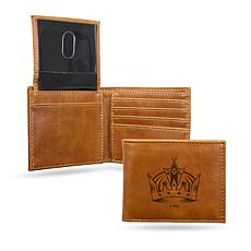 Kings Laser-Engraved Billfold Wallet - Brown