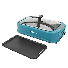 Kitchen HQ 1500-Watt Smokeless Nonstick Grill & Griddle