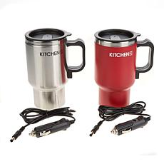 Kitchen HQ 2-pack Heated Car Mugs