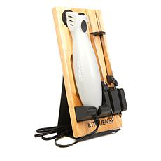 Kitchen HQ Electric Knife with Two Blades, Stand and Board
