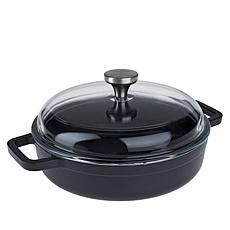 Kitchen HQ Elite Nonstick 2-Quart Cast Iron Braiser Pan