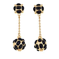"KJL by Kenneth Jay Lane ""East Meets West"" Cabochon Ball Drop Earrings"