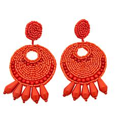 "KJL by Kenneth Jay Lane ""Legendary Boho"" Hoop Earrings"