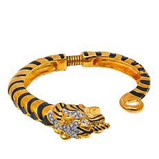 "KJL by Kenneth Jay Lane ""Opulent Tiger"" Cuff Bracelet"