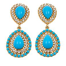 "KJL by Kenneth Jay Lane ""Runway"" Pear Drop Earrings"