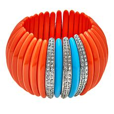 "KJL by Kenneth Jay Lane ""The Deco"" Stretch Bracelet"