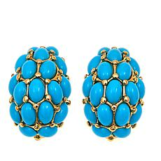 "KJL by Kenneth Jay Lane ""Tropical Vacation"" Cabochon Stud Earrings"