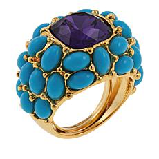 """KJL by Kenneth Jay Lane """"Uptown Nights"""" Cabochon Dome Ring"""