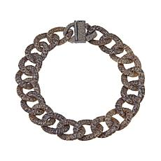 "KMO Paris Snakeskin 21"" Curb Link Necklace"