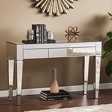 Knightly Contemporary Mirrored Console Table