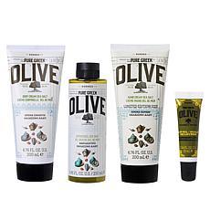 Korres 4-piece Olive & Sea Salt Intense Body Renewal Kit