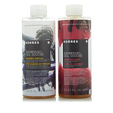 Korres Mulberry Vanilla & Japanese Rose Shower Gel Duo