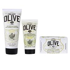 Korres Olive & Blossom Cleanse & Hydrate 3-piece Kit