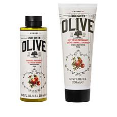 Korres Olive & Pomegranate Body Cream & Shower Gel Set