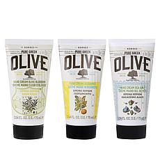 Korres Olive Oil Hand Cream 3-piece Set