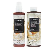 Korres Smoothing Cashmere Rose Body Butter Spray and Shower Gel Set
