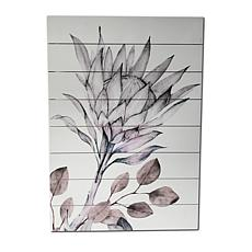 "Kroll Creations Soft Protea 18"" x 26"" Print on Planked Wood Art"