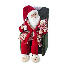 "Kurt Adler 18"" Kringle Klaus Santa in Pajamas"
