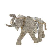Kurt Adler Glamour Elephant Tabletop Figure - 7-3/4""