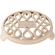 "La Cusine 7"" Round Cast Iron Trivet - Cream"