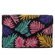 La Regale Multicolored Beaded and Embroidered Envelope Clutch