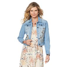 LaBellum by Hillary Scott Embroidered Denim Jacket