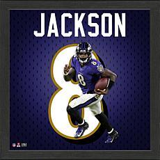 Lamar Jackson Impact Jersey Framed Photo