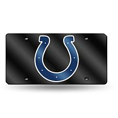 Laser-Engraved Black License Plate - Indianapolis Colts