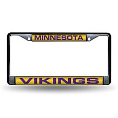 Laser-Engraved Black License Plate - Minnesota Vikings