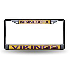 Laser-Engraved Black License Plate - Minnesota Vikings