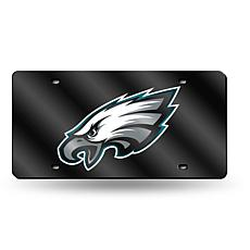 Laser-Engraved Black License Plate- Philadelphia Eagles