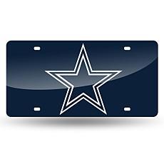 Laser-Engraved Blue Plate - Dallas Cowboys