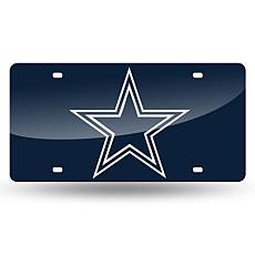 Laser-Engraved Blue Plate - Dallas Cowboys