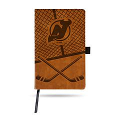 Laser-Engraved Brown Notepad with Elastic Band - Devils