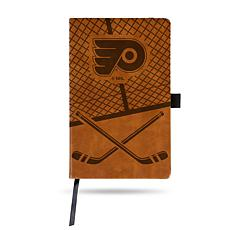 Laser-Engraved Brown Notepad with Elastic Band - Flyers