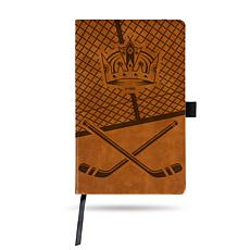 Laser-Engraved Brown Notepad with Elastic Band - Kings