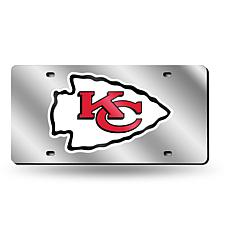 Laser-Engraved Silver License Plate- Kansas City Chiefs