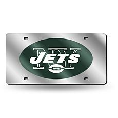 Laser-Engraved Silver License Plate - New York Jets