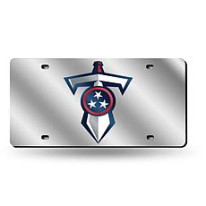 Laser-Engraved Silver License Plate - Tennessee Titans
