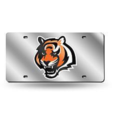 Laser-Engraved Silver Plate - Cincinnati Bengals