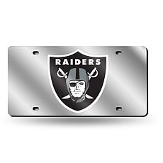 Laser-Engraved Silver Plate - Oakland Raiders