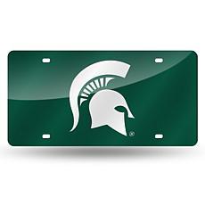 Laser Tag License Plate - Michigan State Un. (Green)