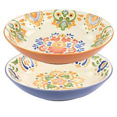 Laurie Gates California Designs Tierra 2pc Stoneware Dinner Bowl Set