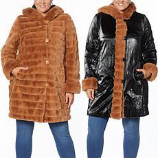 Laurier Reversible Faux Fur Coat