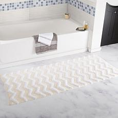 "Lavish Home 100% Cotton Chevron Bathroom Mat- 24"" x 60"""