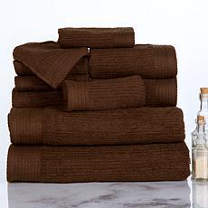 Lavish Home 100% Cotton Ribbed 10-piece Towel Set